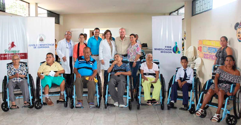 Beneficiarios de sillas de ruedas